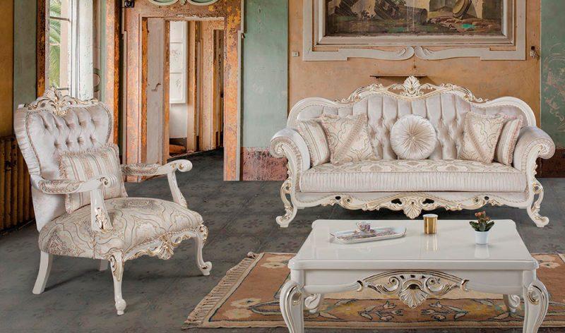 Sofa Klasik Modern Klasik Lavanta