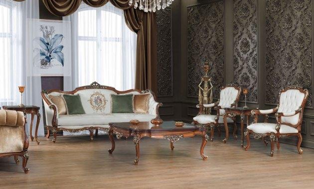 Kursi Mewah Untuk Ruang Tamu Klasik Defne