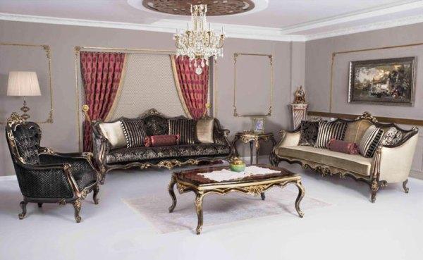 Kursi Ruang Keluarga Mewah Klasik Astana