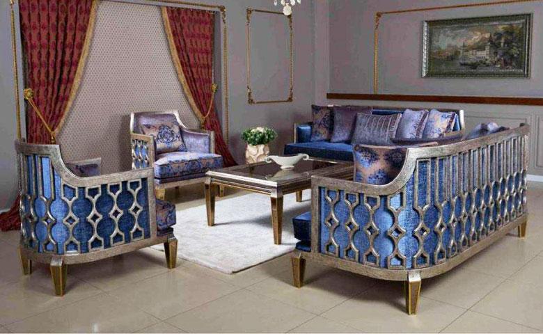Kursi Mewah Ruang Tamu Art Deco Marsilya