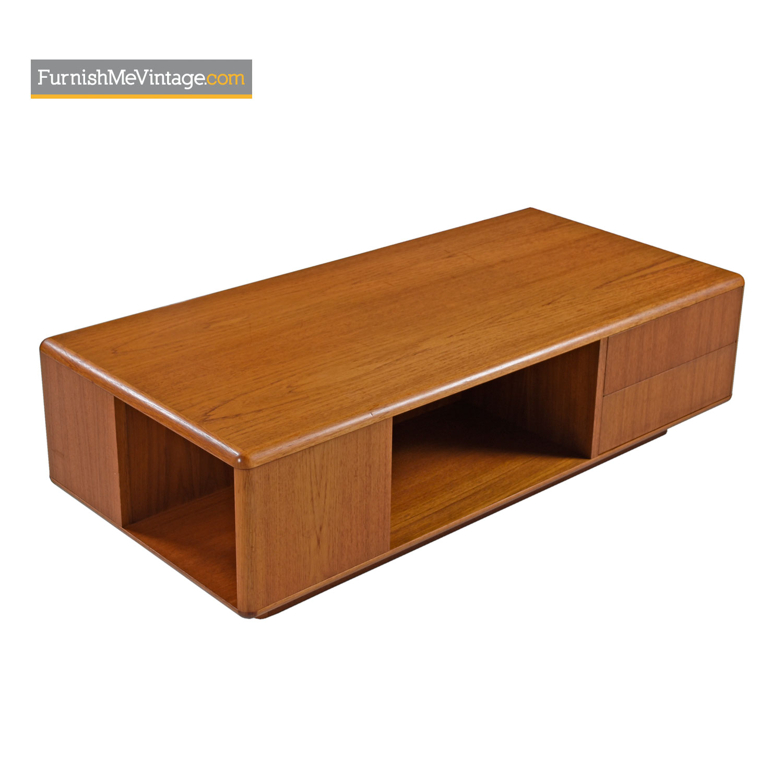 danish teak bookshelf coffee table by sannemann