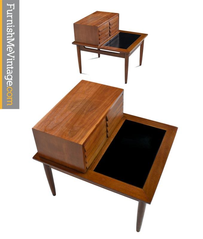 Set Of 2 Vintage Solid Teak Danish End Tables