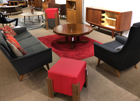 living room furniture mid century