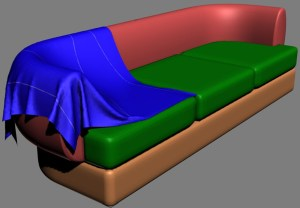 The three-dimensional model of the sofa