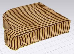 Modeling upholstery sofa cushions