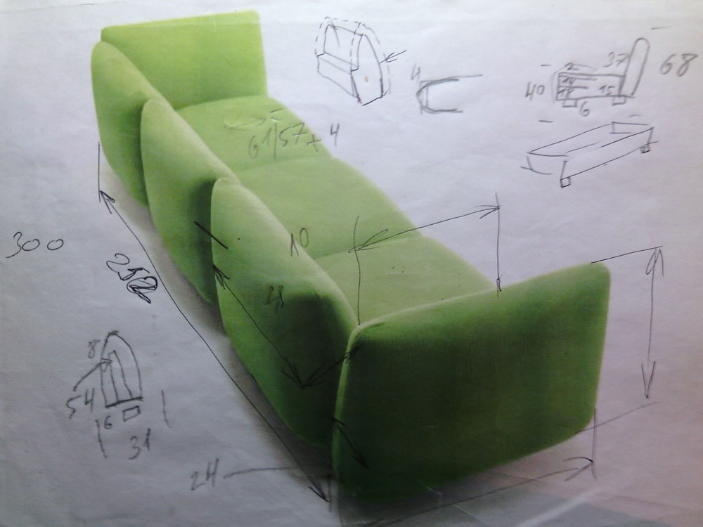 The task for the design of the sofa