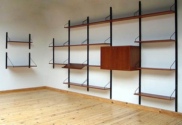 Modern Scandinavian Wall Unit ROYAL SYSTEM Design Poul