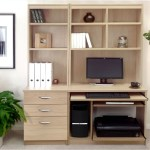 Small Office Desk Set With 3 Drawers Computer Workstation Hutch Bookcases Sandstone Furniture At Work