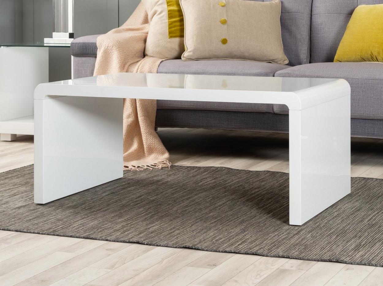 enzo white high gloss coffee table