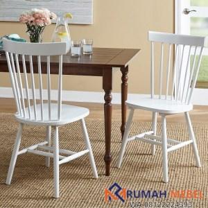 Kursi Cafe Kayu Minimalis Warna Putih
