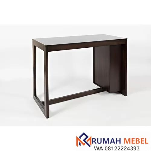 Meja Makan Tinggi Kayu Solid