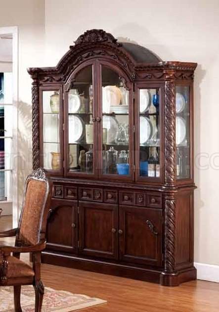 Ashley Dining Set 5Pc WOptional Chairs Amp Buffet With Hutch