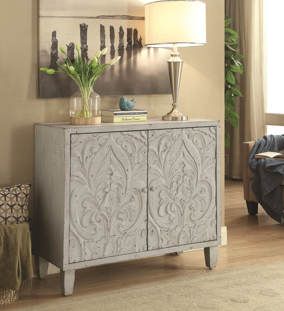 950710 Accent Cabinet In Grey By Coaster
