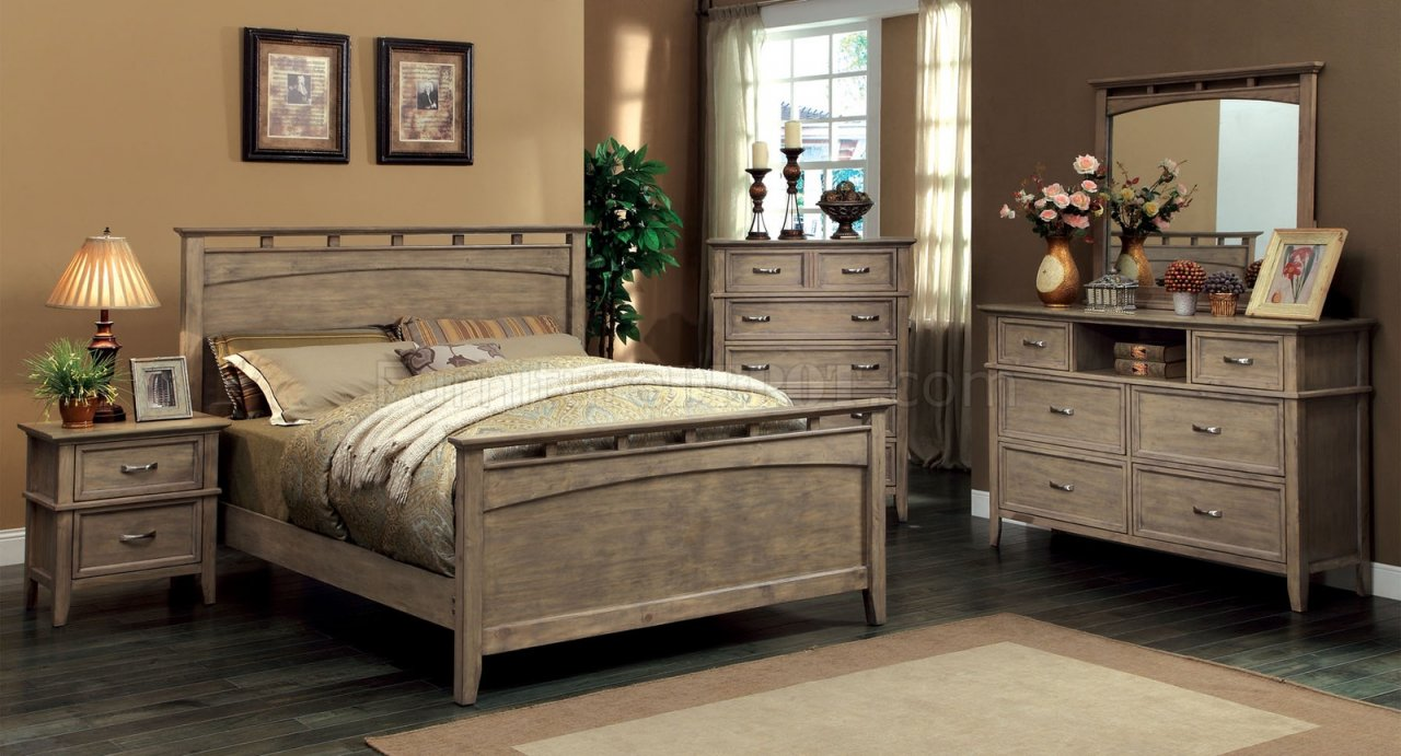 CM7351 Loxley Bedroom In Weathered Oak WOptions