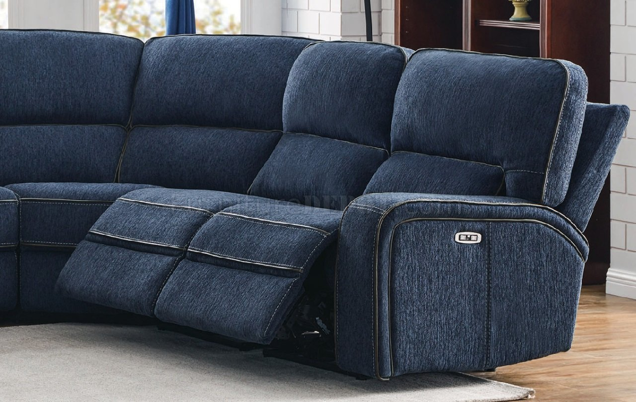dundee power sectional sofa 603370pp in
