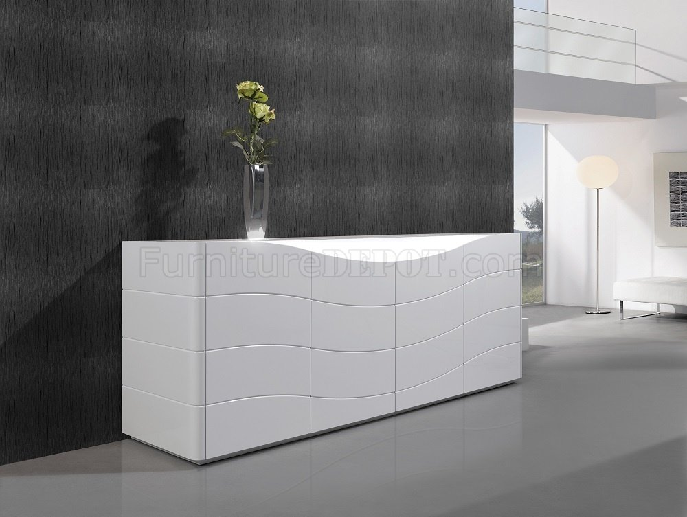Zao Buffet In White Gloss By JampM Furniture