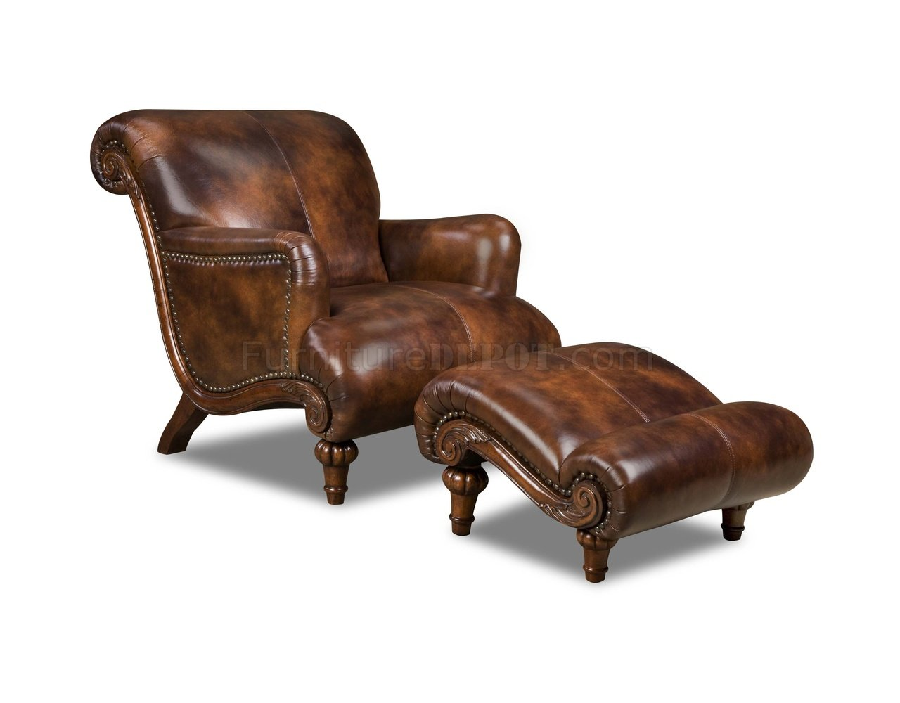 Leather Dining Chairs Brown