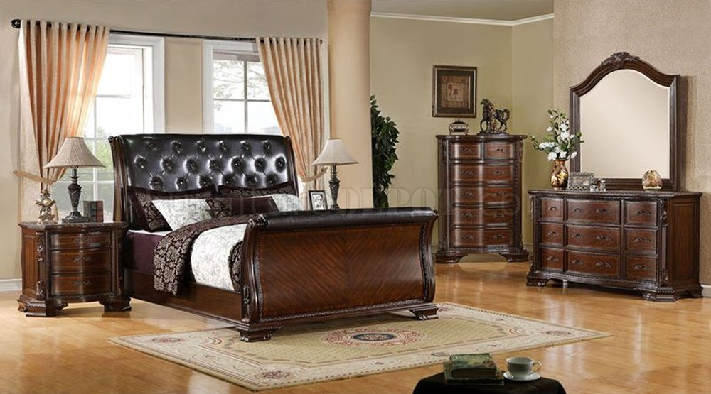 CM7267 South Yokshire Bedroom in Brown Cherry w Options