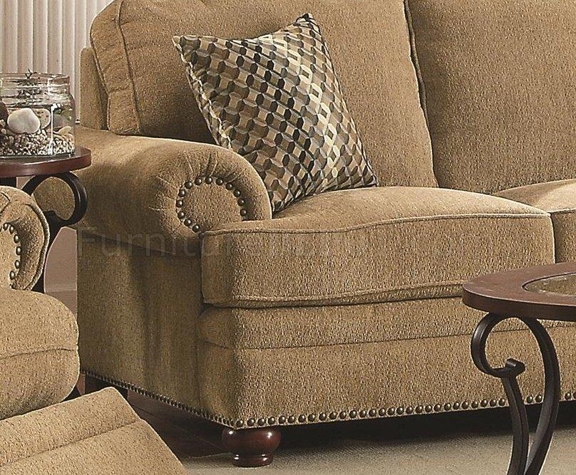 Colton 505851 Sofa In Wheat Chenille Fabric By Coaster WOptions