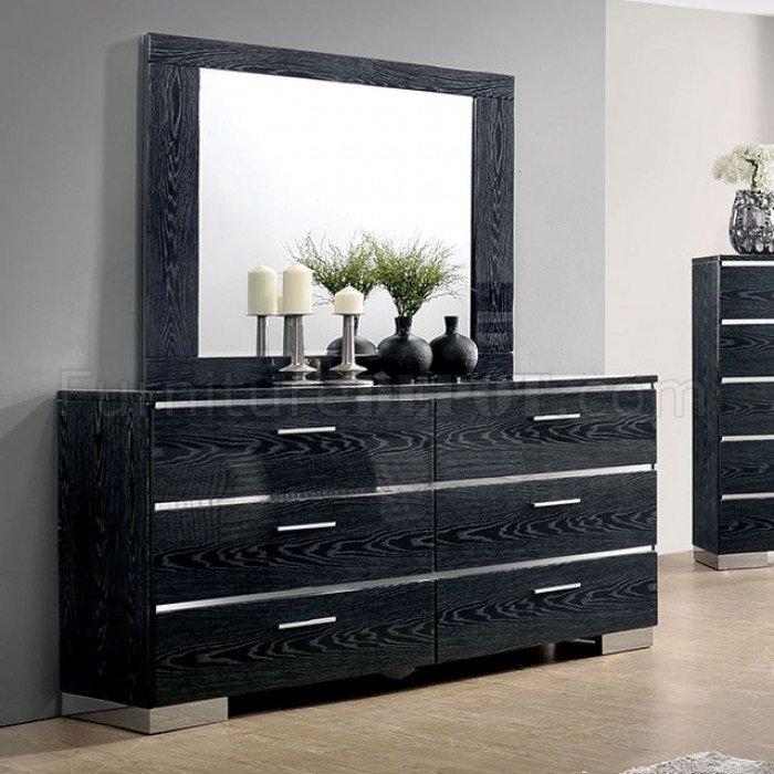 malte 5pc bedroom set cm7049bk in black