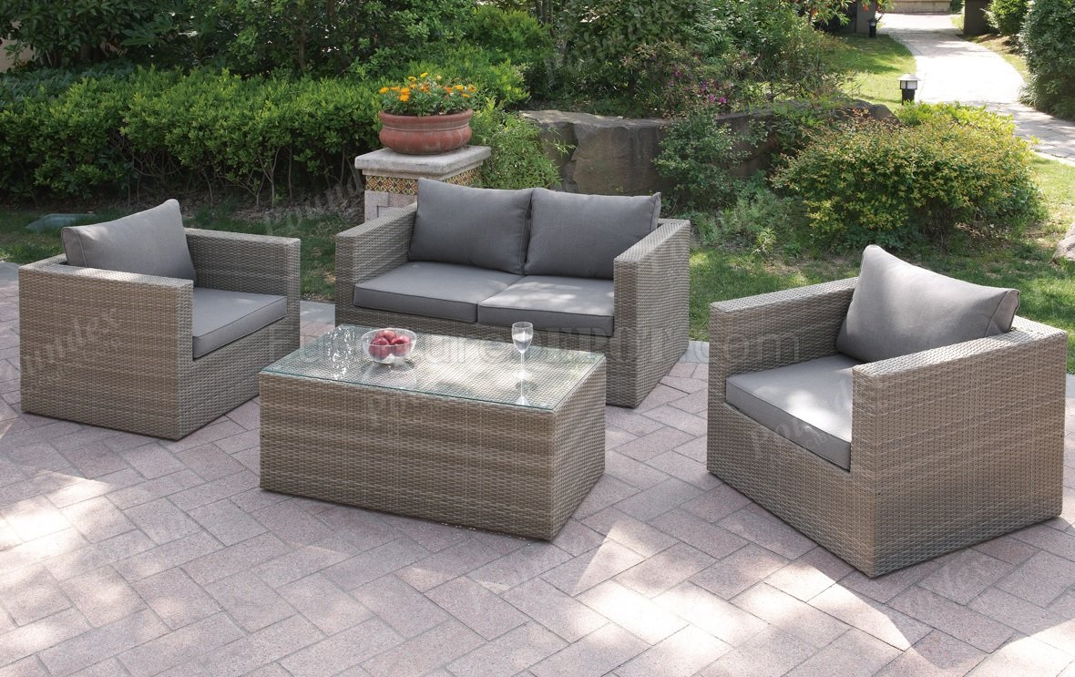 403 Outdoor Patio 4Pc Sofa Set by Poundex w/Options on Outdoor Loveseat Sets  id=27471