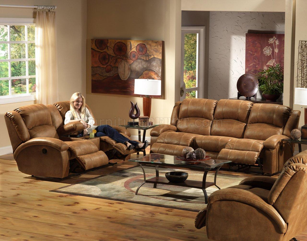 saddle faux leather dawson reclining