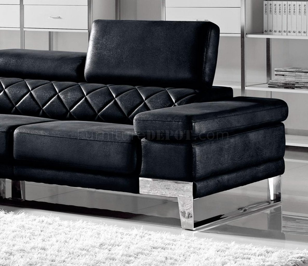 1263 arden sectional sofa in black