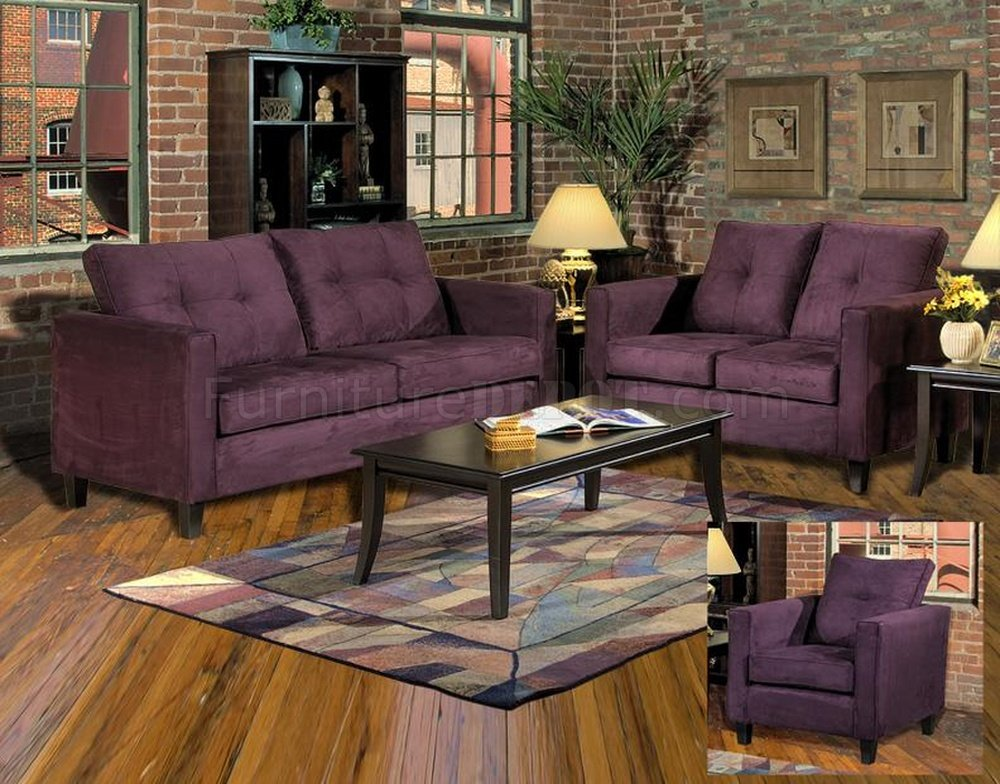 5900 Heather Sofa Amp Loveseat Set In Eggplant Fabric By Chelsea