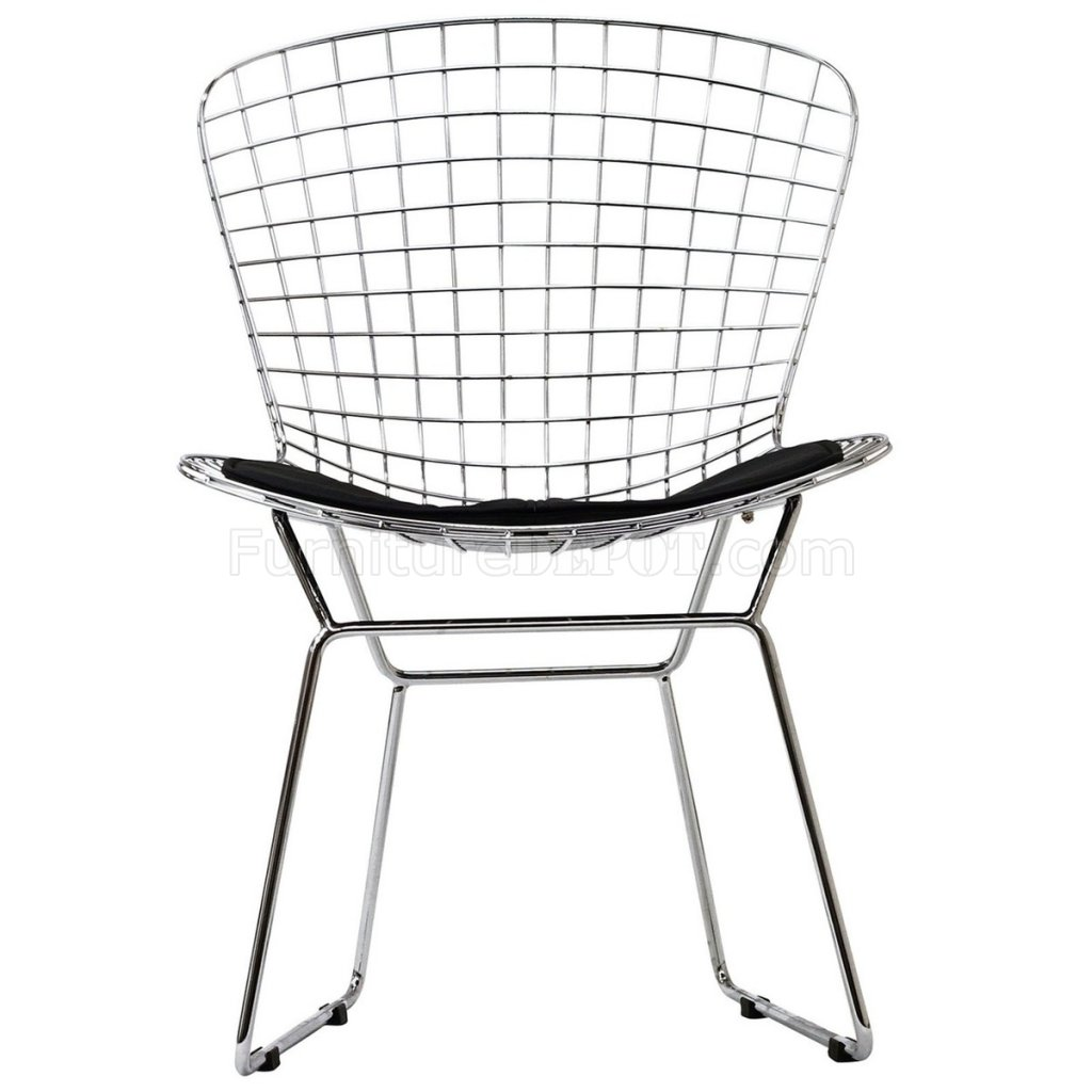 Cad Dining Chair Set Of 2 W Black Or White Seat By Modway