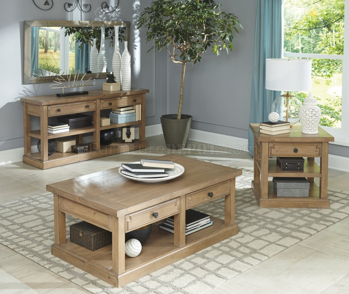 florence 705408 coffee table in rustic