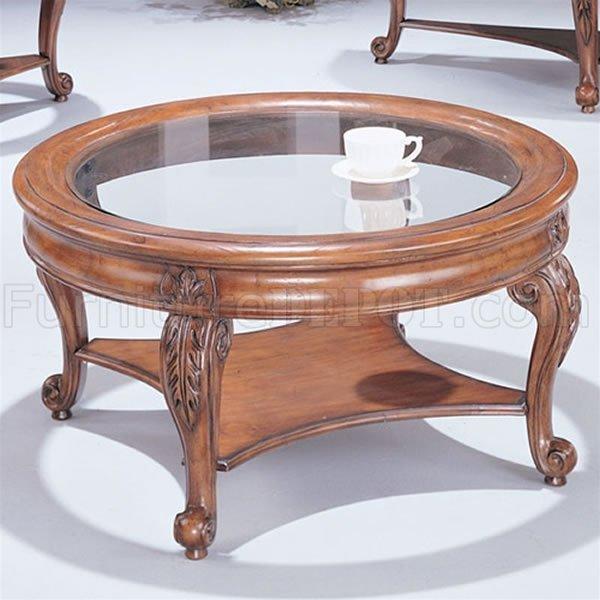 light cherry round stylish coffee table