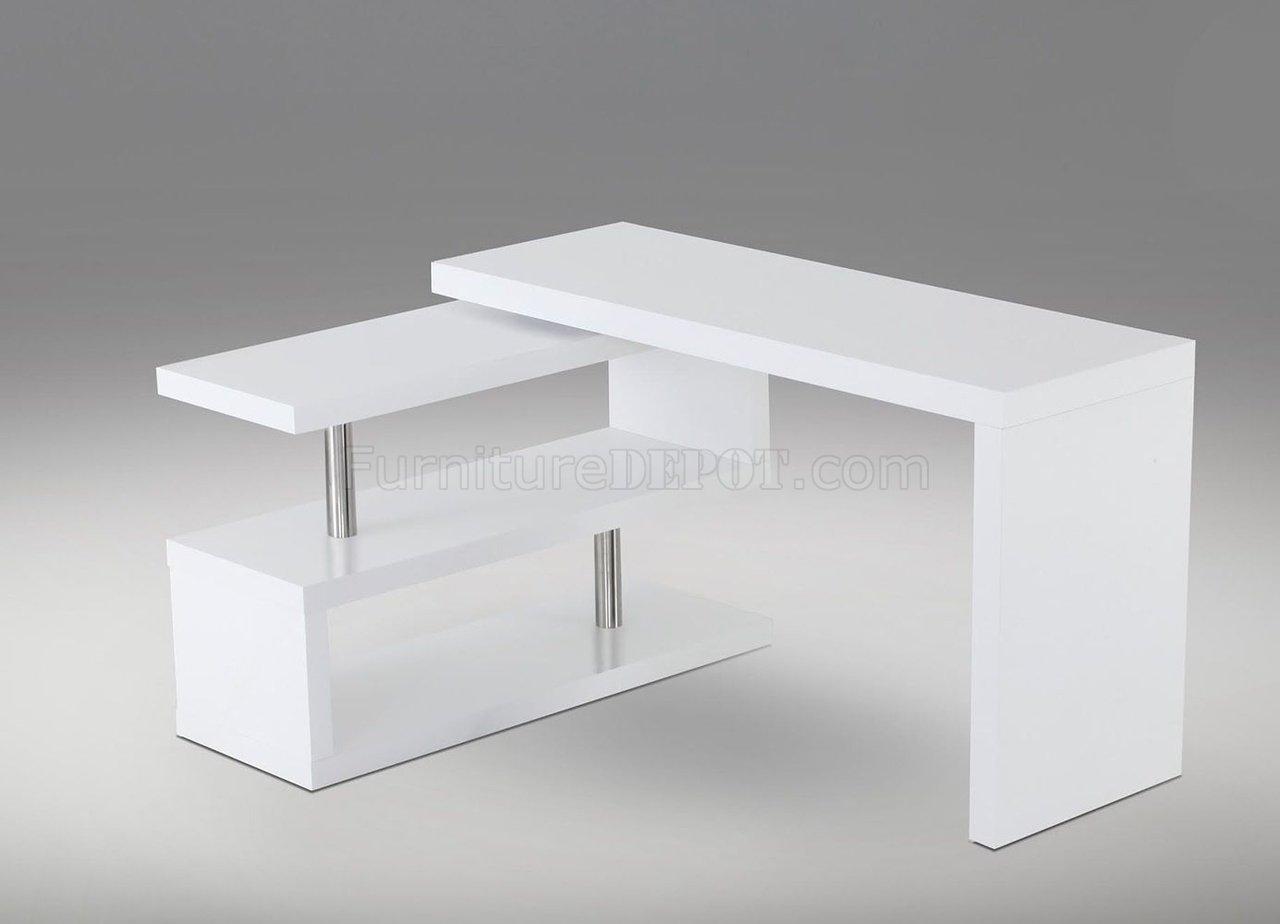 A33 Modern Office Desk By J M In White Matte