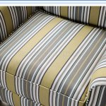 Wilkie Accent Chair Sm8311 Ch In Yellow Gray Striped Fabric