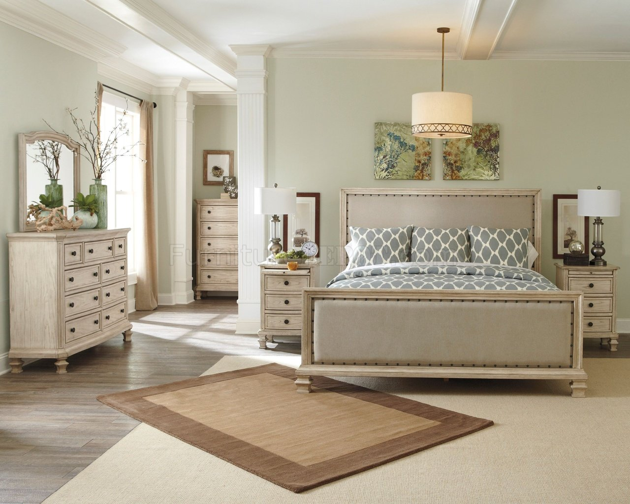 Demarlos Bedroom B693 Up In Parchment White By Ashley