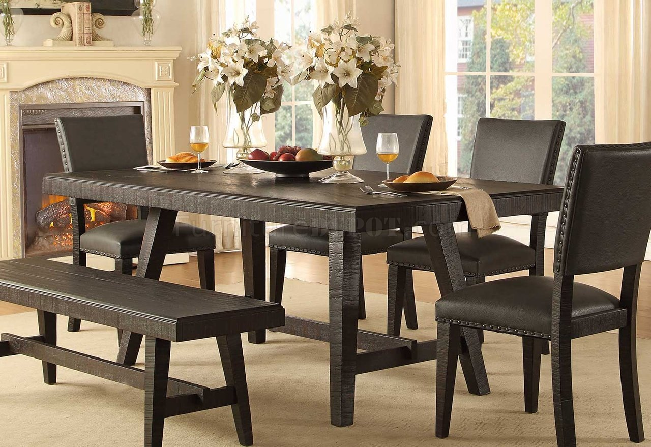 Fenwick Dining Table 5480 76 Dark Grey By Homelegance W