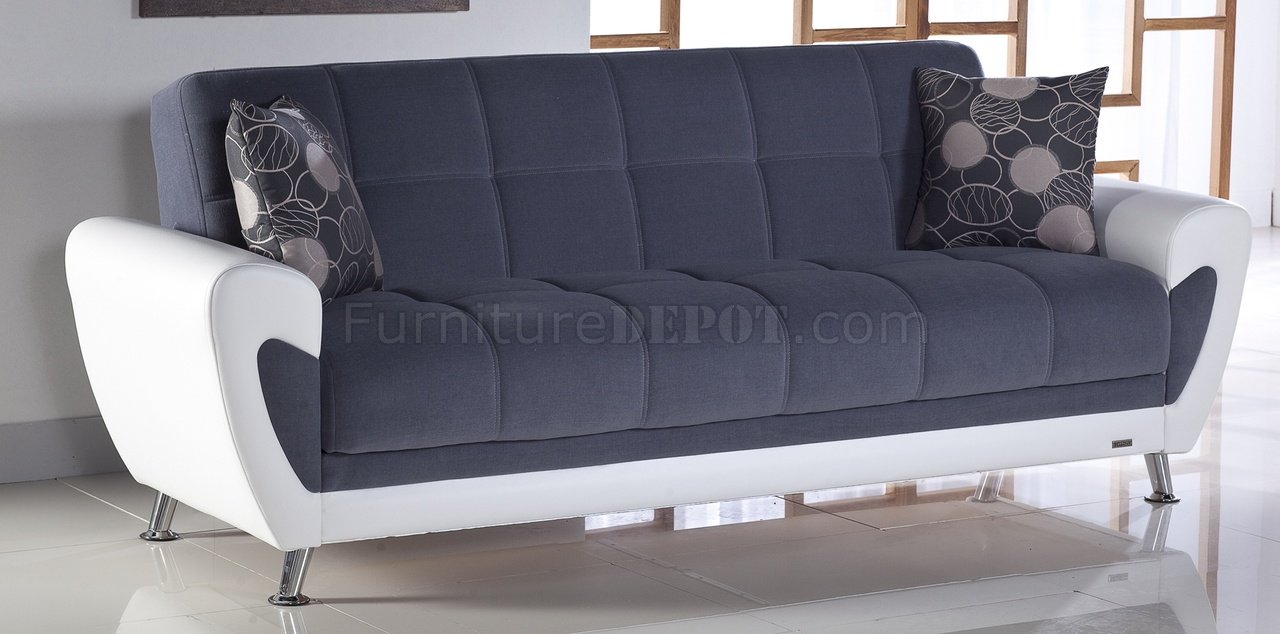 Duru Sofa Bed Cozy Gray Sunset Two Tone Fabric