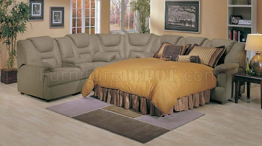 4 5000 Home Theater Sectional Sofa WPull Out Bed By Acme
