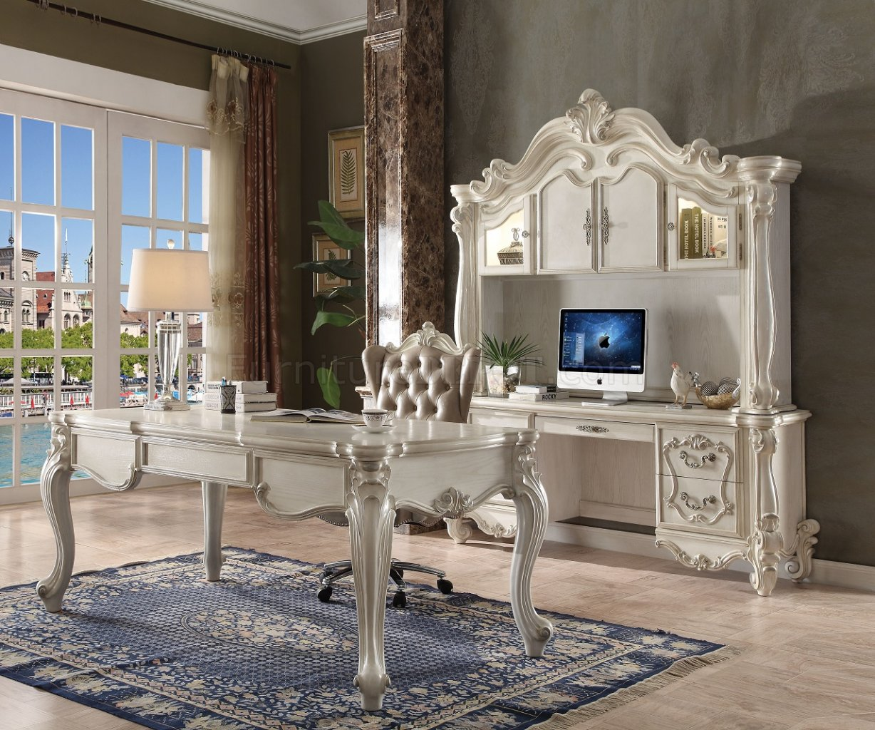 Versailles Executive Desk 92275 In White By Acme WOptions