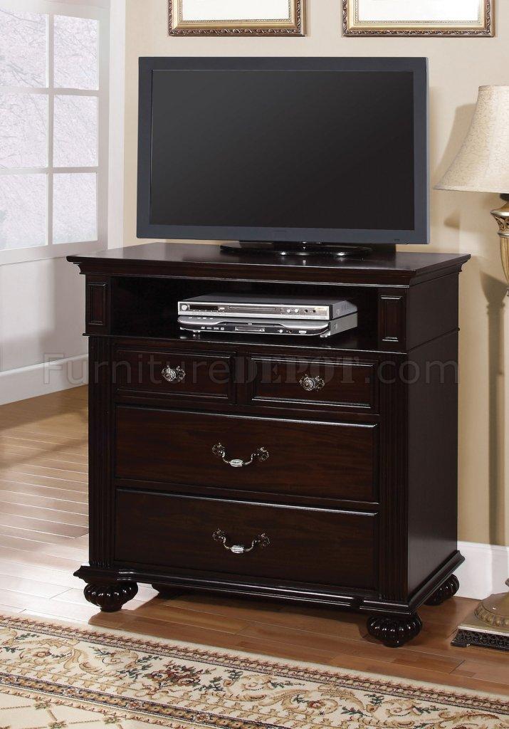 CM7129 Syracuse TV Console In Dark Walnut