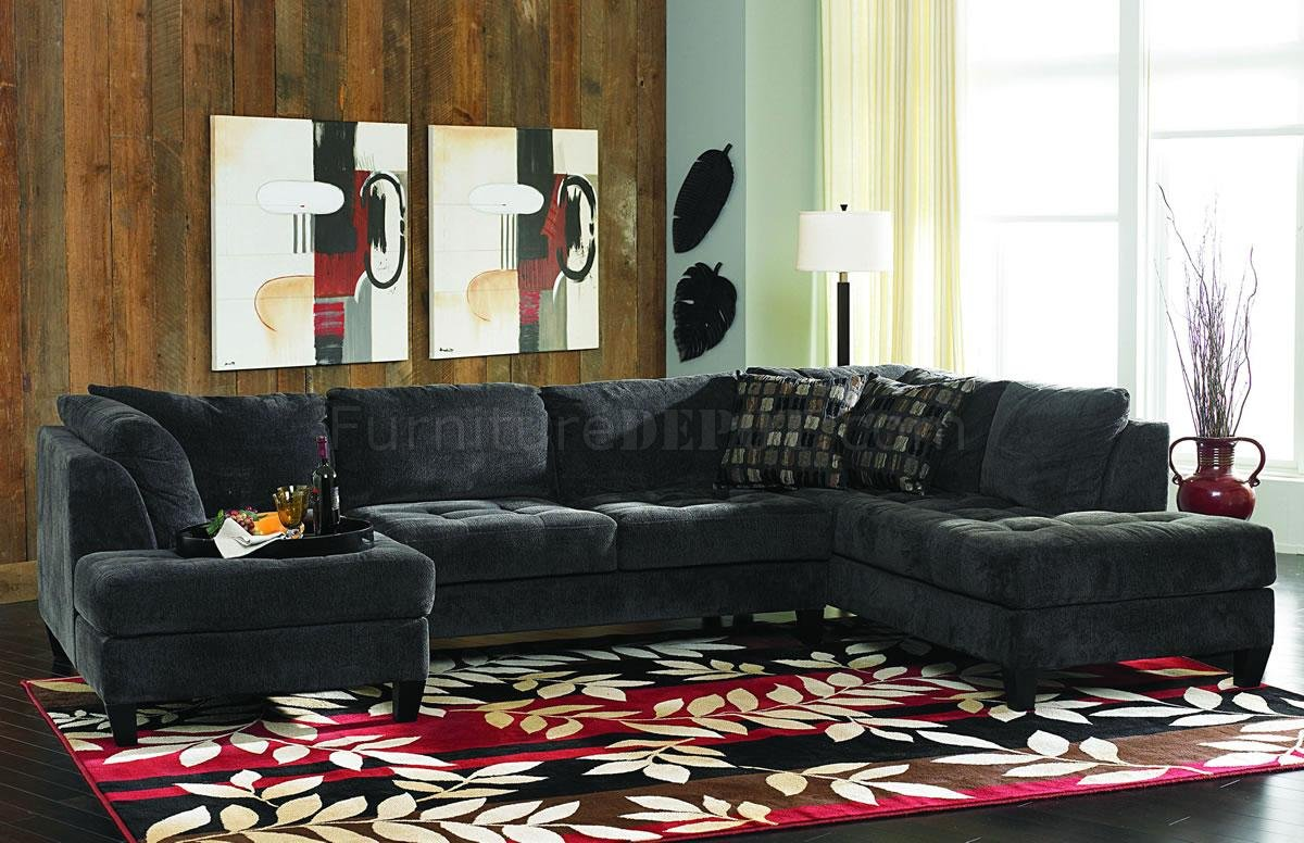 charcoal gray fabric contemporary