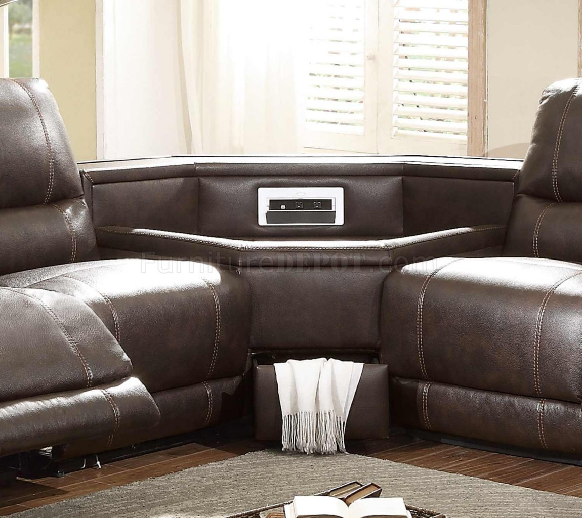 Sofa Sectional Brown Chaise Leather