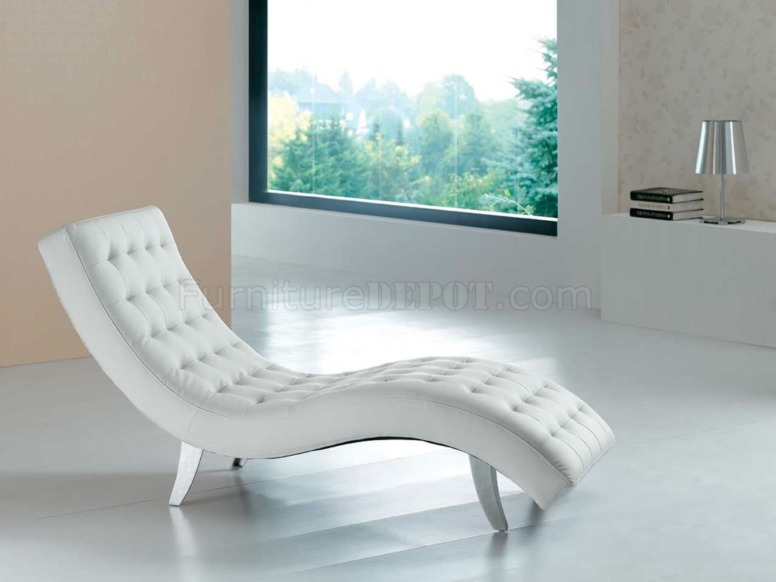 black vinyl modern chaise lounger