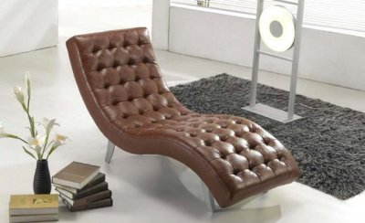 Brown Beige Black Red Or White Stylish Vinyl Chaise Lounge
