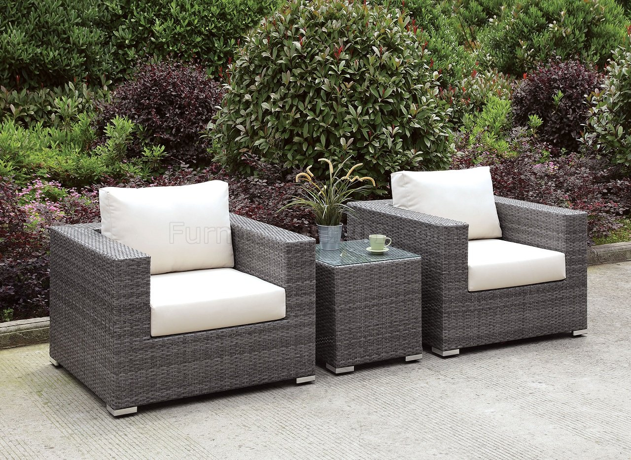 27 3pc patio set of 2 chairs end table