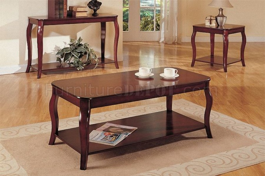 dark cherry coffee console end table