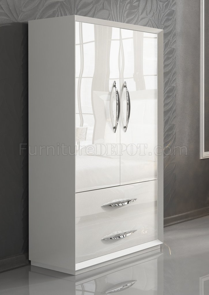 Carmen Bedroom By ESF In White WOptional Case Goods