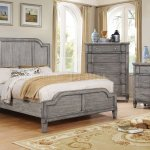 Ganymede Cm7855 Bedroom In Rustic Weathered Gray W Options