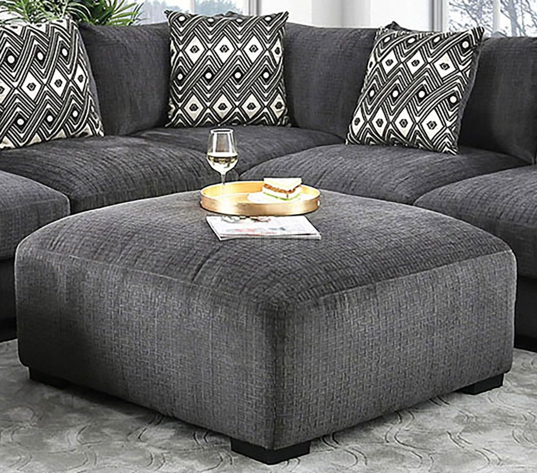 kaylee sectional sofa cm6587 in gray