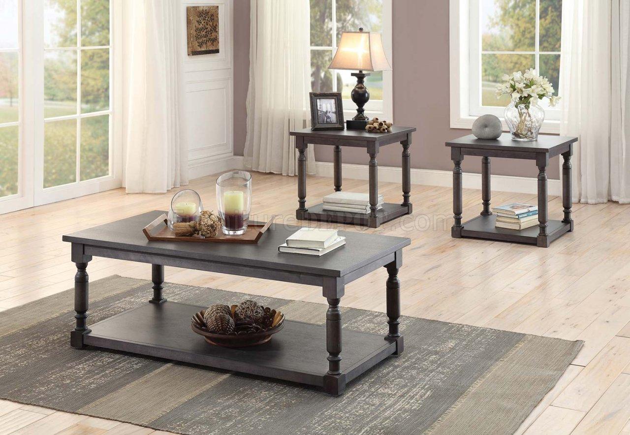 Amaryllis 3560 31 Coffee Table 3Pc Set Dark Grey By
