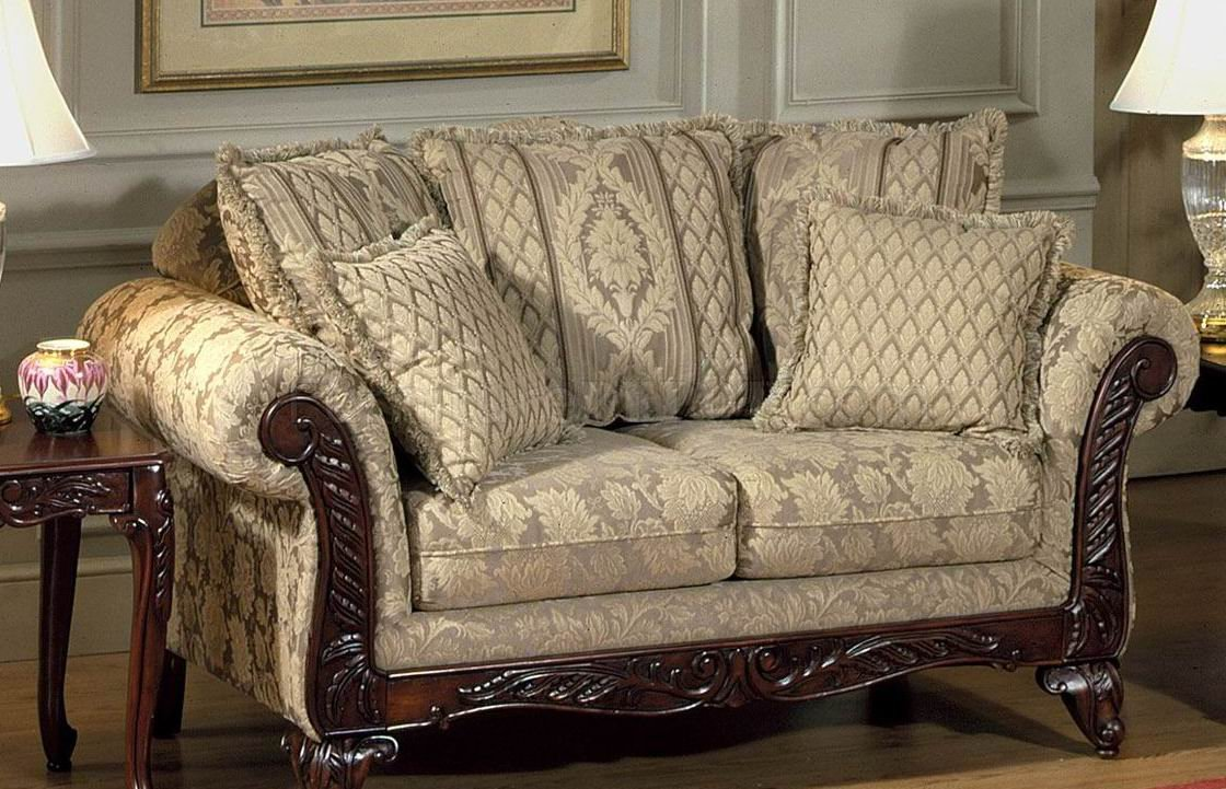 Beige Clarissa Carmel Fabric Traditional 2Pc Sofa Set W